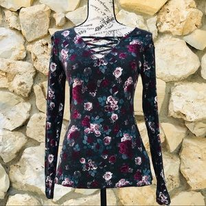 Rock & Republic Floral Long Sleeve Sz XS